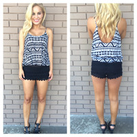 Crochet & Lace Joslyn Shorts - BLACK
