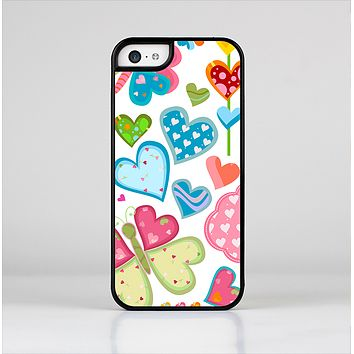 The Fun Colored Love-Heart Treats Skin-Sert Case for the Apple iPhone 5c