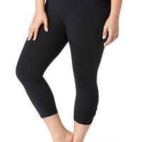 Plus Size - Capri With Performance Fabric - Black
