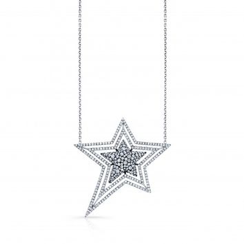 Susan Foster - White Gold Diamond Star Necklace justoneeye.com