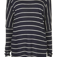 MATERNITY Definitives Wide Stripe Top - Navy