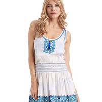 Shoshanna Santorini Embroidered Cover-Up Dress