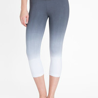 Lysse Capri Cotton Leggings - Grey Dip Dye