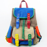 New Fashion Womens Canvas Backpack Rucksack Shoulders Bag Travel School Bookbags