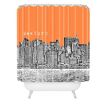 Bird Ave New York Orange Shower Curtain