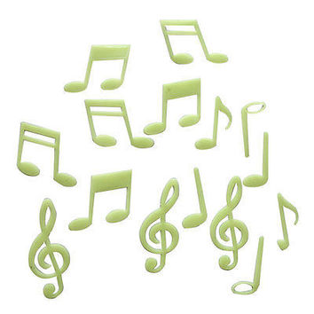 Pleasing Musical Note Glow In The Dark Stars Stickers Kid Bedroom Home Wall LAUS