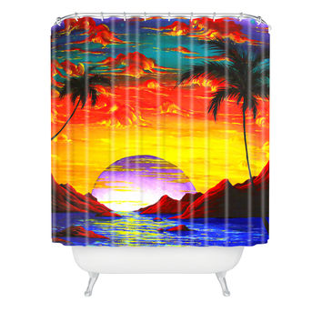 Madart Inc. The Birth Of Eden Shower Curtain
