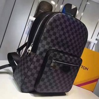 Lv Black Damier Backpack
