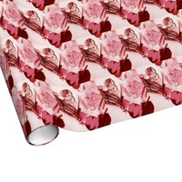 Valentine hearts collage wrapping paper