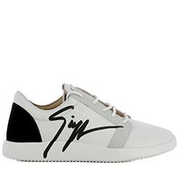 Giuseppe Zanotti Design Women's RS80078001 White Leather Sneakers