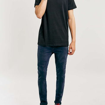 Blue Black Binx Spray On Jeans - Topman