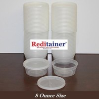 Reditainer 8 oz. Deli Food Containers w/ Lids - Pack of 40 - Food Storage