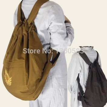 high quality embroidery shaolin monk Buddhist bags Zen masters Buddhism chan backpack meditation Lay Buddha Lohan canvas unisex