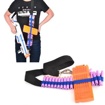 Rowsfire Bandolier for Nerf N-strike Elite Series Adjustable Soft Bullet Tactical Belt Dart Ammo Storage Shoulder Strap - Blue
