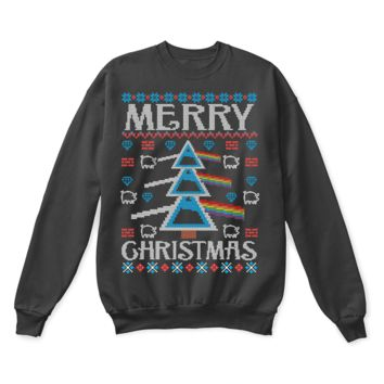 ESBINY Merry Christmas Dark Side Of The Moon Pink Floyd Ugly Sweater