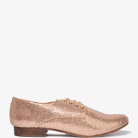 Glittered Lace-Up Oxfords