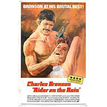 Rider On The Rain Charles Bronson Movie poster Metal Sign Wall Art 8in x 12in