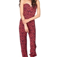 Floral Jumpsuit - Red from Jacaranda at ShopRoxx.com