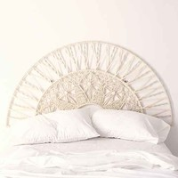 Magical Thinking Sol Macrame Headboard- White Full/queen