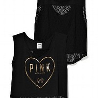 Lace Back Dolman - Victorias Secret PINK - Victoria's Secret