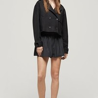 Rag & Bone - Marshall Cropped Trench, Caviar