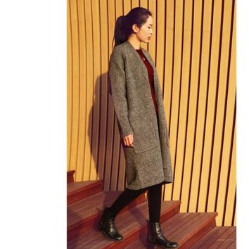 Womens Trendy Long Coat Winter Sweater