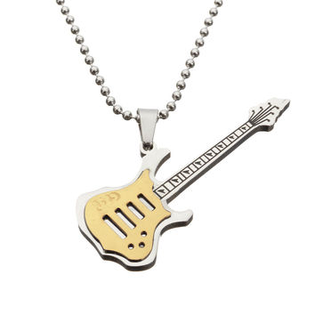 Guitar Pendant Women Men Necklace Musical instrument Cute Jewelry For Clothing Accessories