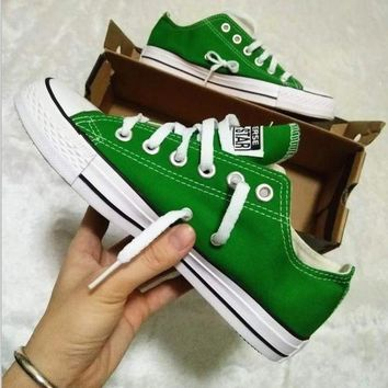 VONR3I Converse All Star Sneakers canvas shoes for Unisex sports shoes low-top Green