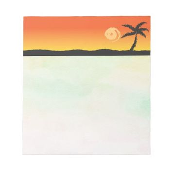 Island Sunset Notepad