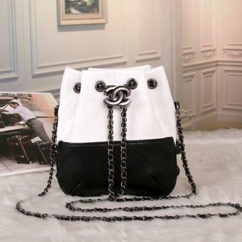 Chanel' Women Casual Fashion Personality Multicolor Quilted Bucket Bag Metal Chain Single Shoulder Messenger Bag