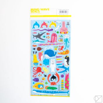 Yuruyuru Sea Life Sticker Sheet