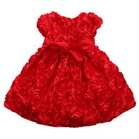 Girl's Bouquet Of Roses Gown - Red
