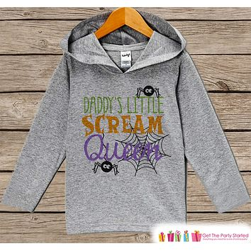 Girls Halloween Shirt - Funny Halloween Hoodie - Daddy's Scream Queen - Girls Halloween Hoodie - Happy Halloween Hoodie - Halloween Costume