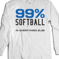 99% Softball 1% Everything else long sleeve tee t shirt-T-Shirt