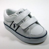 Ralph Lauren Polo BollingbrookEZ White Leather Sneakers