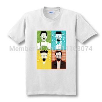 Breaking Bad T Shirt Men Heisenberg COOK Walter Male Tops Tees I Am The One Who Knocks T-shirt Free Shipping
