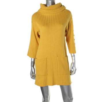 Catherine Malandrino Womens Wool Tunic Sweaterdress