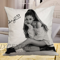 "Ariana Grande Signature on square pillow cover 16"" 18"" 20"""