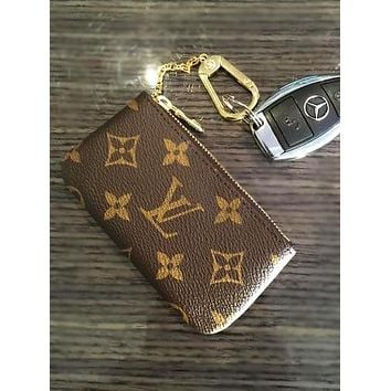 LV Louis Vuitton Monogram Canvas Key Pouch