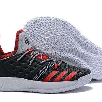 Adidas Harden Vol. 2 Black/White/Red Basketball Shoes US7-11.5