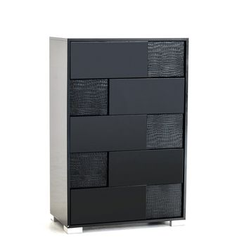 Modrest Grace Italian Modern Black Chest