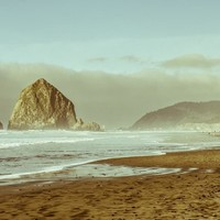 Haystack Rock, Cannon Beach, Oregon Coast Wall Art Print - Many Sizes