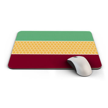 Mouse Pad, Office Decor, Computer Accessories, Autumn color inspired mousepad design. Ikat chevron, Great gift idea (0032)