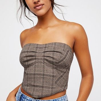 Out West Plaid Corset