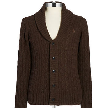G-Star Raw Wool Cable Knit Cardigan