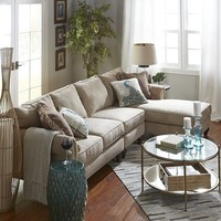 Build Your Own Alton Ecru Rolled Arm Sectional Collection
