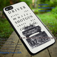 Supernatural Quote Driver Picks The Music iPhone 6s 6 6s+ 5c 5s Cases Samsung Galaxy s5 s6 Edge+ NOTE 5 4 3 #movie #supernatural #superwholock #sherlock #doctorWho dt