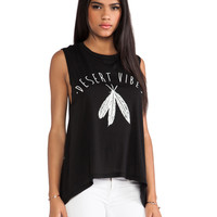 291 Desert Vibes Muscle Tunic Tank in Black