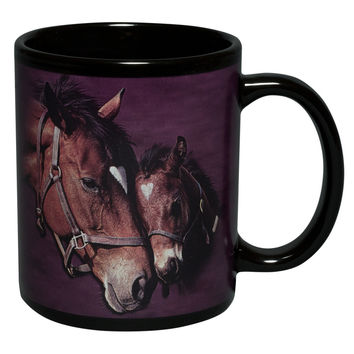 Gentle Touch Horse With Colt Coffee Mug