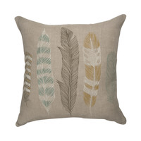 Feathered Throw Pillow Cover